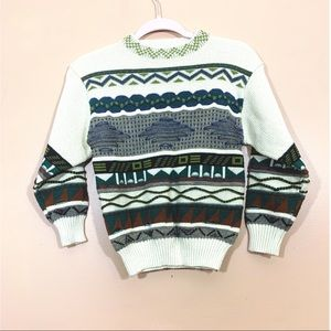Little Kids Unisex Abstract Printed Sweater